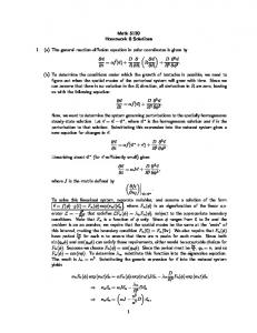 Math 5120 Homework 8 Solutions 1. (a) The general reaction ...
