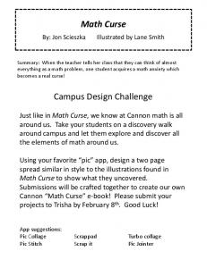Math Curse Campus Design Challenge