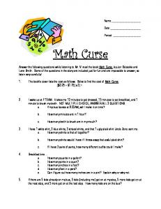 MATH CURSE WORKSHEET.pdf - VondranPages