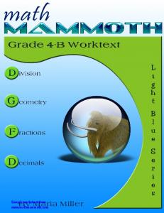 Math Mammoth Grade 4-B Worktext aligned with common core ...