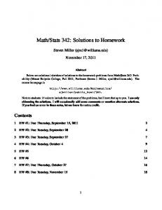 Math/Stats 342: Solutions to Homework