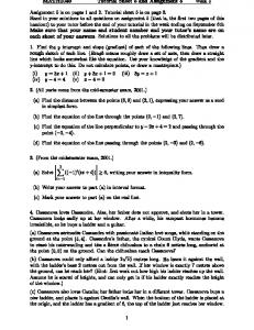 MATH1040 Tutorial Sheet 5 and Assignment 5 Week 5 Assignment ...