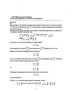 MATH320 Homework 3 Solutions Written by Myoungjean Bae and ...
