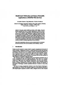MathCloud: Publication and Reuse of Scientific Applications ... - Everest