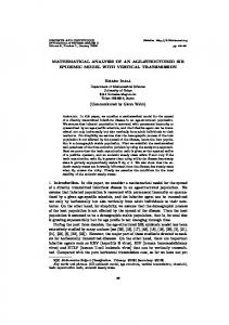 MATHEMATICAL ANALYSIS OF AN AGE-STRUCTURED ... - CiteSeerX