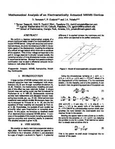 Mathematical Analysis of an Electrostatically Actuated ... - UCI Math