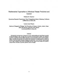 Mathematical Approaches to Infectious Disease ... - Ned Dimitrov