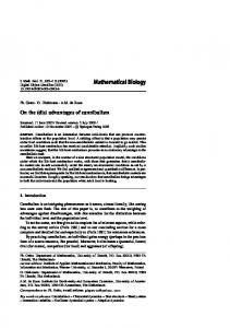 Mathematical Biology - Springer Link