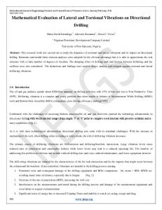 Mathematical Evaluation of Lateral and Torsional Vibrations on ...