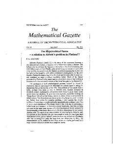 Mathematical Gazette - Wpi - Worcester Polytechnic Institute