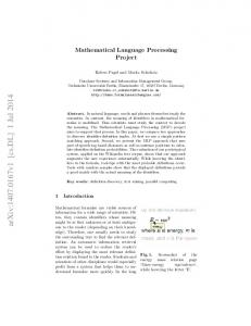 Mathematical Language Processing Project