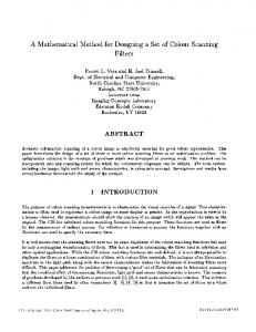 Mathematical Method for Designing a