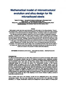Mathematical model of microstructural evolution and ...