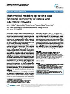 Mathematical modeling for resting state functional connectivity of ...
