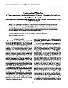 Mathematical Modeling of Heterogeneous Catalysis ... - Springer Link