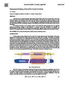 Mathematical Modeling of Pencil-Thin Nuclear ... - NCSU Repository