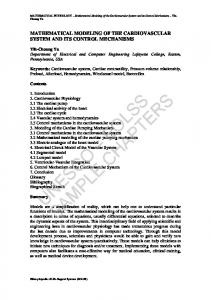 Mathematical Modeling of the Cardiovascular System and its Control ...