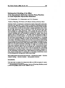 Mathematical Modeling of the Effect of the ... - Semantic Scholar