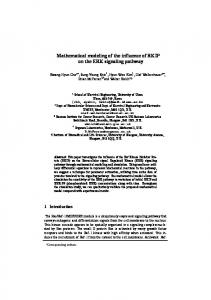 Mathematical modeling of the influence of RKIP on ... - Semantic Scholar