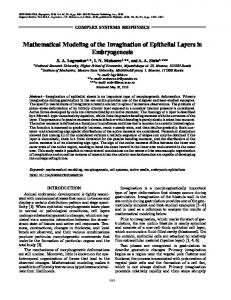 Mathematical Modeling of the Invagination of Epithelial ... - Springer Link
