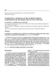 MATHEMATICAL MODELING OF THE NUTRIENT ... - Semantic Scholar