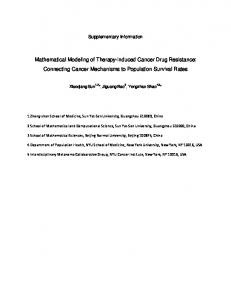 Mathematical Modeling of Therapy-induced ... - Semantic Scholar