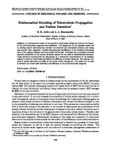 Mathematical modeling of tuberculosis propagation ... - Springer Link