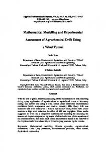 Mathematical Modelling and Experimental Assessment of