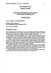 Mathematical Modelling and Simulation of the Cardiovascular ...