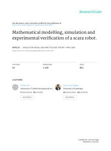 Mathematical modelling, simulation and experimental