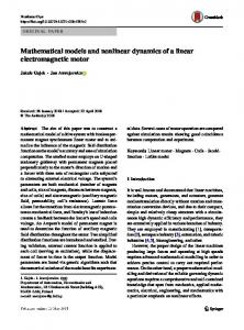 Mathematical models and nonlinear dynamics of a
