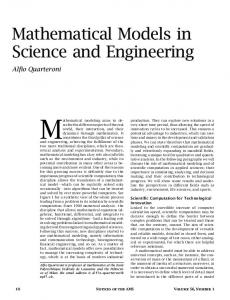 Mathematical Models in Science and Engineering - American ...