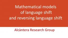 Mathematical models of language shift and reversing language shift - UV
