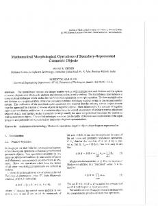 Mathematical Morphological Operations of Boundary ... - Robert Haralick
