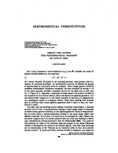 mathematical perspectives - American Mathematical Society