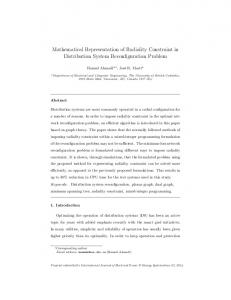 Mathematical Representation of Radiality Constraint in Distribution ...
