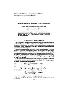 Mathematical Sciences And Applications E-Notes ...