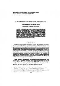 Mathematical Sciences And Applications E-Notes A NEW ... - DergiPark