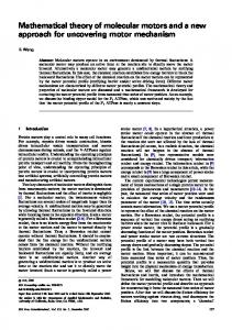 Mathematical theory of molecular motors and a