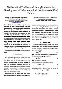 Mathematical Toolbox and its application in the Development of ... - arXiv