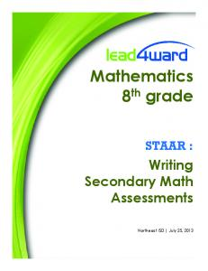 Mathematics 8th grade - Lead4ward