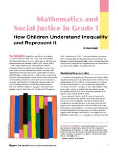 Mathematics and Social Justice in Grade 1 - National Association for ...