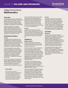 Mathematics - Kansas State University