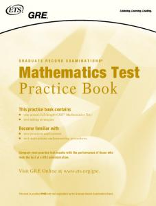 Mathematics Test Practice Book