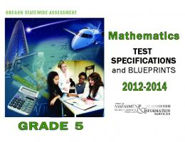 Mathematics Test Specifications and Blueprints, Grade 5, 2012-2014