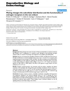 Mating changes the subcellular distribution and the functionality of ...