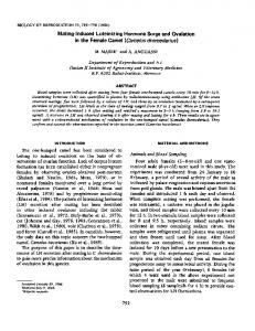 Mating-Induced Luteinizing Hormone Surge and Ovulation in the ...