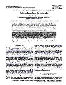 Mating system shifts on the trailing edge - Oxford Journals