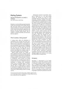 Mating Systems - Wiley Online Library