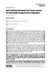 MATLAB/Simulink-Based Grid Power Inverter for Renewable Energy ...